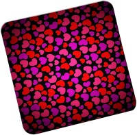 GIENAH Square Acrylic Coaster Set(Pack of 4)