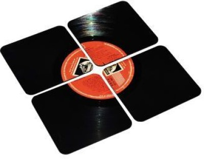 The Upcycle project Rectangle Vinyl Record Coaster Set