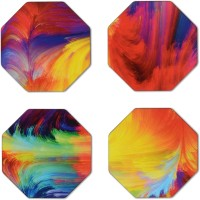 My Own Round Wood Coaster Set(Pack of 4)