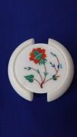 Unique Handicrafts Round Stone Coaster Set(Pack of 1)