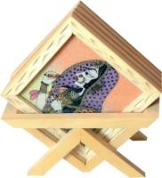 Unicorn Handicrafts Square Wood Coaster Set(Pack of 5)