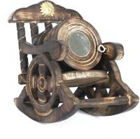 Etsi Bitsi Round Wood Coaster Set(Pack of 7)
