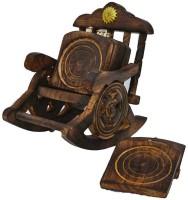 JaipurCraft Square Wood Coaster Set(Pack of 6)