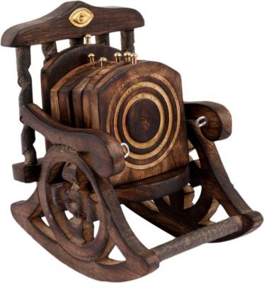 Bazaar Pirates Square Wood Coaster Set