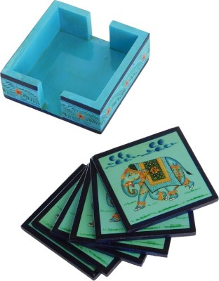 Chave Square Wood Coaster Set(Pack of 6)