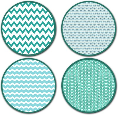 StyBuzz Round Medium Density Fibreboard Coaster Set