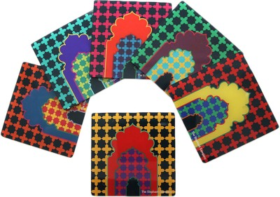 The Elephant Company Square Acrylic Coaster Set
