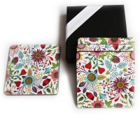 Inspired Living Square Medium Density Fibreboard Coaster Set(Pack of 4)