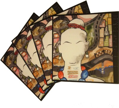 Ganges Art Gallery Square Medium Density Fibreboard Coaster