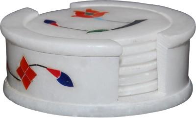 MNE Round Marble Coaster Set