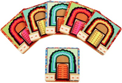 The Elephant Company Square Medium Density Fibreboard Coaster Set