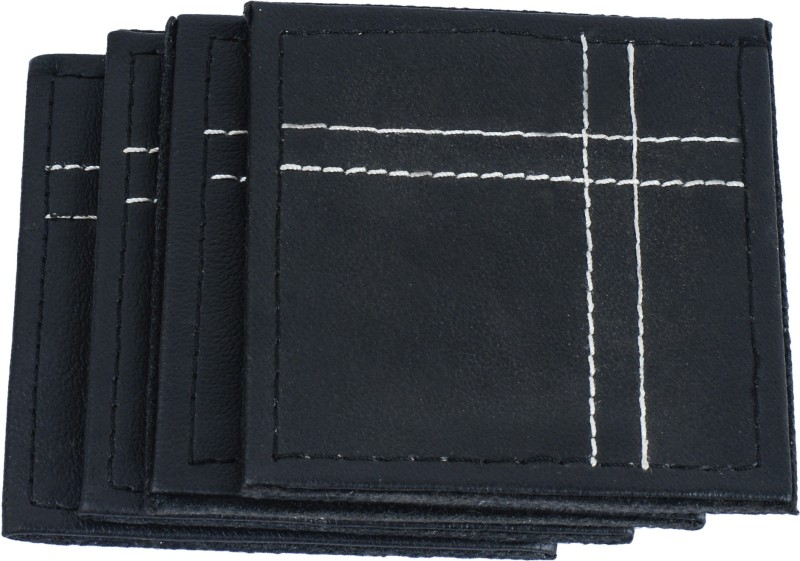 Frestol Square Leather Coaster Set(Pack of 4)