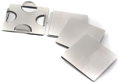 Pratha Square Steel Coaster Set