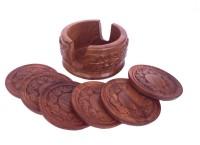 Craft Art India Round Wood Coaster(Pack of 6)