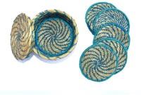 Art Godaam Round Organic Cotton Coaster Set(Pack of 5)