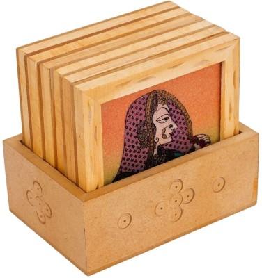 Craft Art India Square Wood Coaster Set