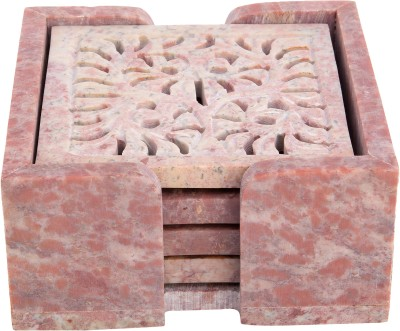 Artistic Handicrafts Square Marble Coaster Set