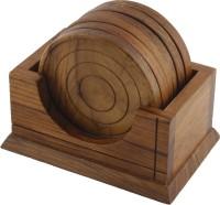Dinette Round Wood Coaster Set(Pack of 6)