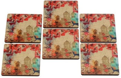 2ndmay Square Wood Coaster Set