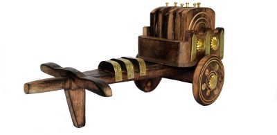 Woodino Handicrafts Square Wood Coaster Set