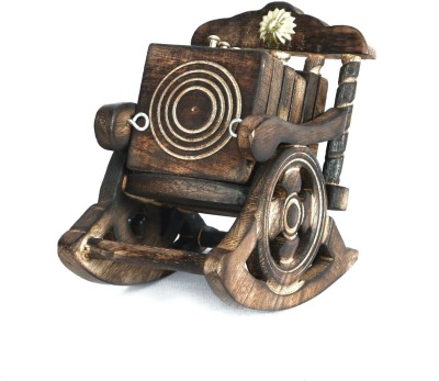 Etsi Bitsi Square Wood Coaster Set