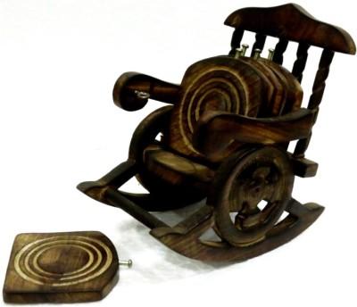MARIYAM Square Wood Coaster Set