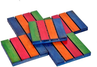 Toygully Square Wood Coaster Set