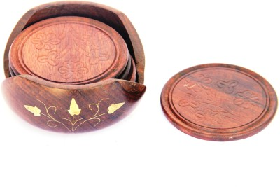 Woodpedlar Round Wood Coaster Set