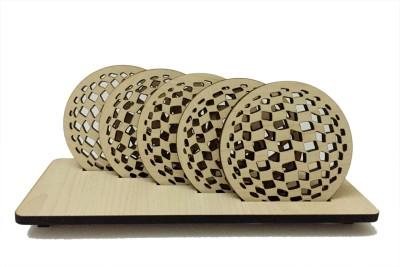 Kartprint Round Wood Coaster Set