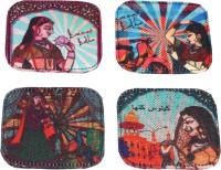 Kanvas Katha Square Cotton Coaster Set(Pack of 4)