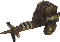 Art-N-Craft Square Wood Coaster Set(Pack of 7)