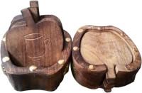 R R HANDICRAFT Triangle Wood Coaster Set(Pack of 4)