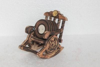 Prachin Art Gallary Square Wood Coaster Set