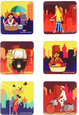 The Elephant Company Square Medium Density Fibreboard Coaster Set