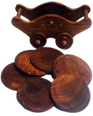MARIYAM Round Wood Coaster