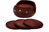 Craftgasmic Round Wood Coaster(Pack of 6)