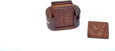 Jupiter Gifts and Crafts Oval Wood Coaster Set