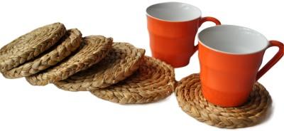 Rope International Round Jute Coaster Set