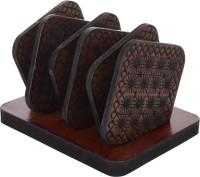 OMKRAFT Square Wood Coaster Set(Pack of 6)