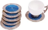 Homez Round Cotton Coaster Set(Pack of 6)