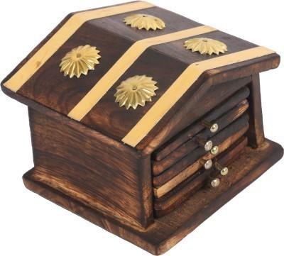 Craftatoz Square Wood Coaster Set