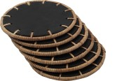 Zoiks Round Ceramic Coaster Set(Pack of 6)