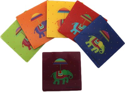 The Elephant Company Square Acrylic Coaster Set