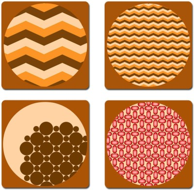StyBuzz Square Medium Density Fibreboard Coaster Set