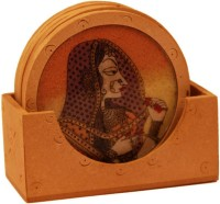 Fabulous Crafts Round Wood Coaster Set(Pack of 7)