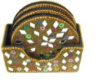 Sarthak Store Round Gemstone Coaster Set(Pack of 6)