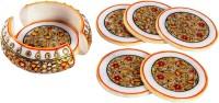 Treasure Hunt Round Ceramic Coaster Set(Pack of 7)