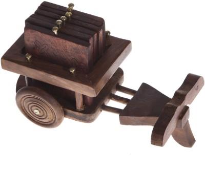 Urban Monk Creations Square Wood Coaster Set