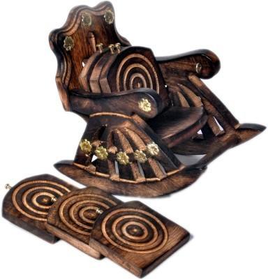 Craftatoz Oval Wood Coaster Set