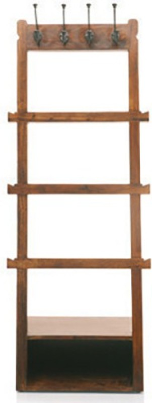 Urban Ladder Alfred Solid Wood Coat and Umbrella Stand(Finish Color - Teak)
